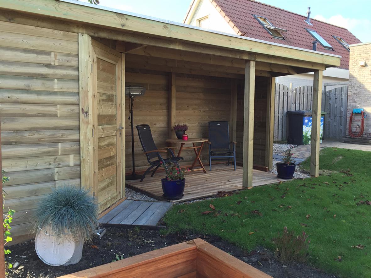 Tuinhuisje veranda - Martien van Zaal Woubrugge